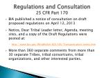 regulations and consultation 25 cfr part 170