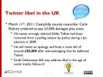 twitter libel in the uk