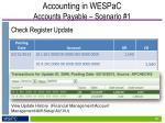 accounting in wespac accounts payable scenario 110