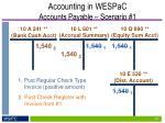 accounting in wespac accounts payable scenario 111