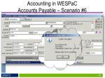 accounting in wespac accounts payable scenario 61