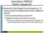 accounting in wespac payroll scenario 2
