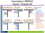 accounting in wespac payroll scenario 23