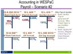 accounting in wespac payroll scenario 24