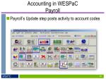 accounting in wespac payroll