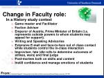 change in faculty role