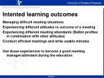 intented learning outcomes