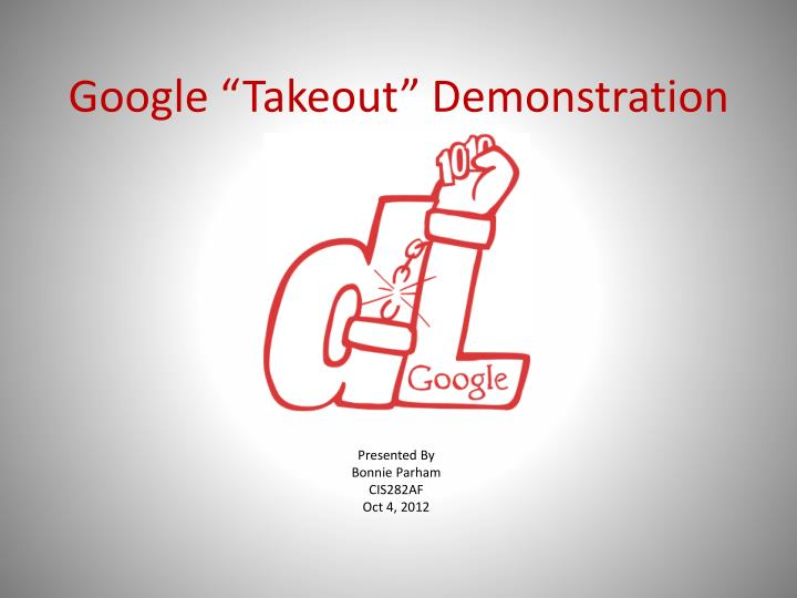 google takeout demonstration n.