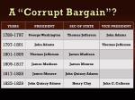 a corrupt bargain1