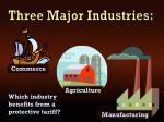 three major industries