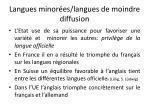 langues minor es langues de moindre diffusion