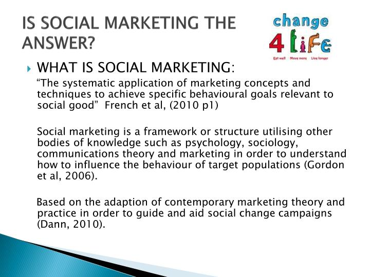 IS SOCIAL MARKETING THE