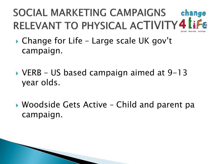 SOCIAL MARKETING CAMPAIGNS RELEVANT TO PHYSICAL AC