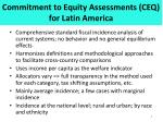 commitment to equity assessments ceq for latin america