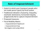 rate of impoverishment