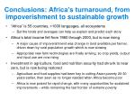 conclusions africa s turnaround from impoverishment to sustainable growth