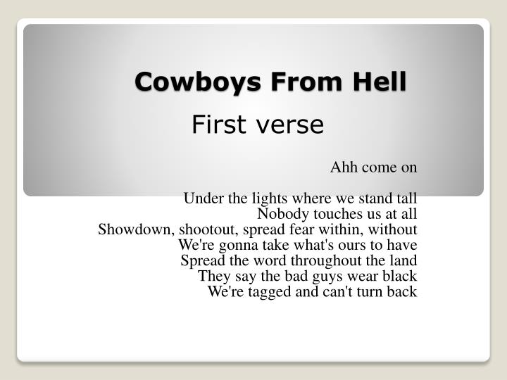 cowboys from hell n.
