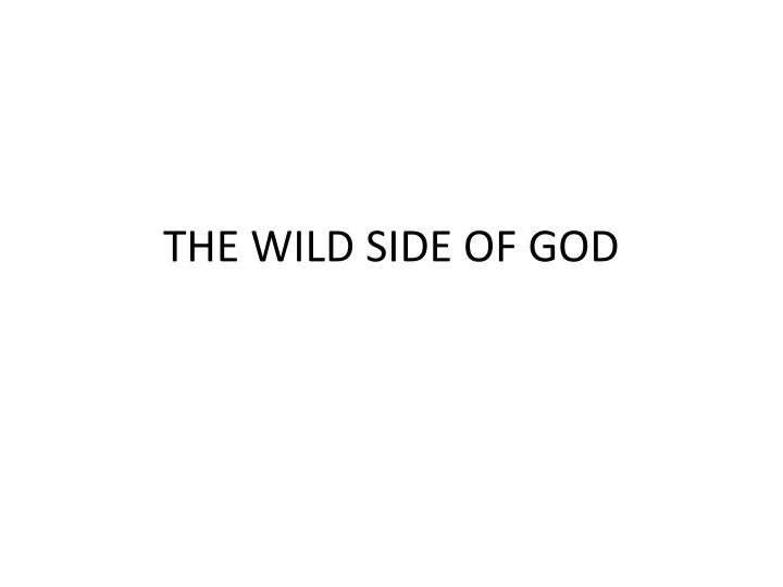 the wild side of god n.