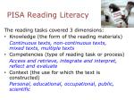 pisa reading literacy