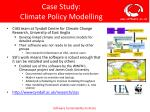 case study climate policy modelling