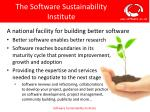the software sustainability institute