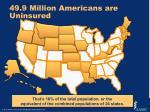 49 9 million americans are uninsured