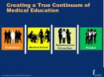 creating a true continuum of medical education