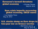 euro crisis imperils recovering global economy oecd warns