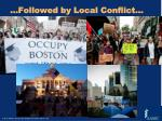 followed by local conflict