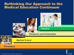 rethinking our approach to the medical education continuum