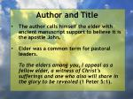 author and title1
