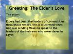 greeting the elder s love1
