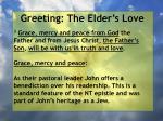 greeting the elder s love23