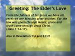 greeting the elder s love27