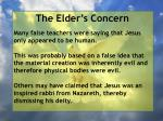 the elder s concern11