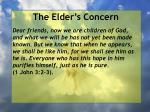 the elder s concern34