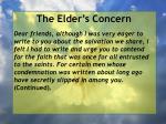 the elder s concern7