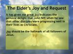 the elder s joy and request1
