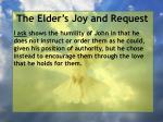 the elder s joy and request11