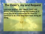 the elder s joy and request13
