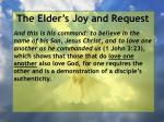 the elder s joy and request14