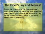 the elder s joy and request18