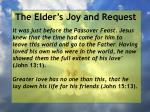the elder s joy and request24