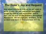 the elder s joy and request26