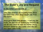 the elder s joy and request5