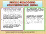 modelo pedag gico constructivismo social