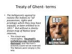treaty of g hent terms