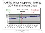 nafta what happened mexico gdp fell after peso crisis