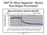 nafta what happened mexico real wages plummeted