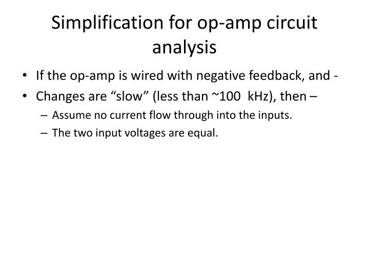 Simplification for op-amp circuit analysis